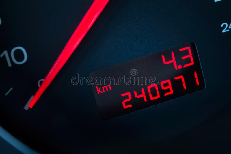 Car with a high mileage. royalty free stock photography