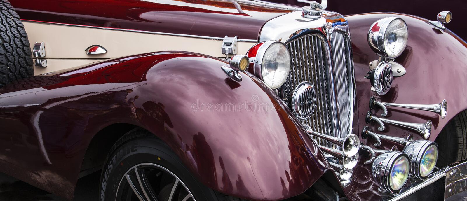 Car HORÐ¡H. 850. 1936-1940 years of production. Russia. Rostov-on-Don. May 25, 2018. International Tuning Festival YugMotorShow. Exhibition platform royalty free stock photography