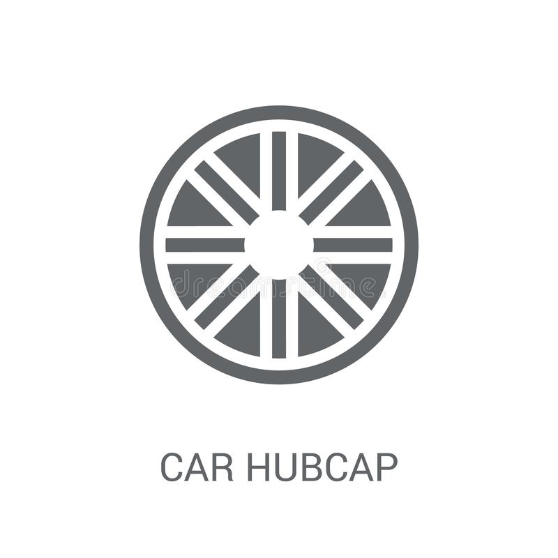 Free Car Hubcap Icon. Trendy Car Hubcap Logo Concept On White Background From Car Parts Collection Stock Images - 131188644