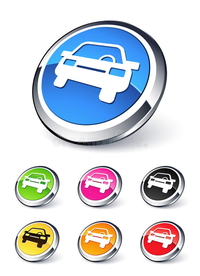 Car icon. Clipart illustration design