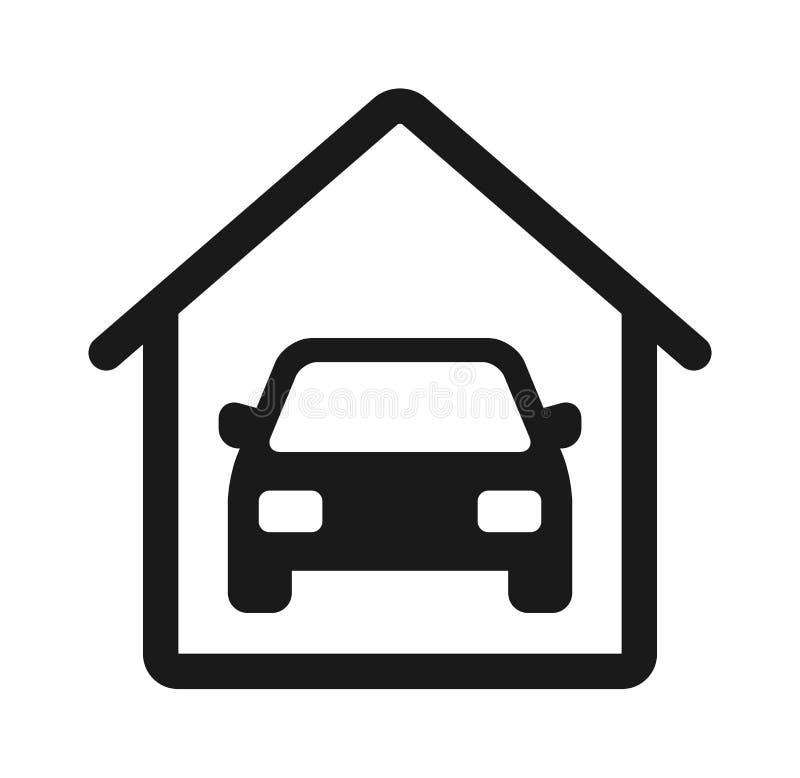 Garage car icon stock illustration