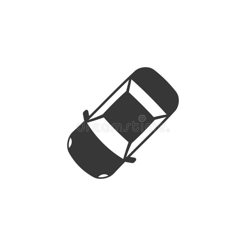 Car icon. Aerial view silhouette design vector illustration
