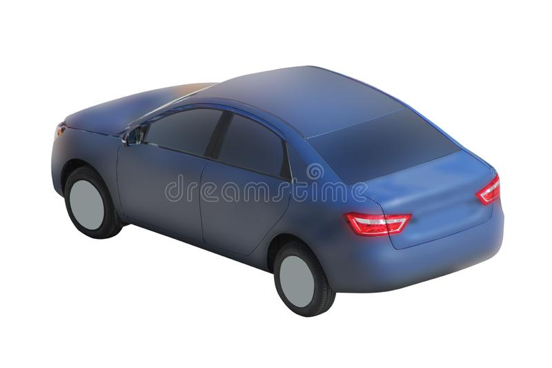 Car icon blue color , auto isolated, automobile front view, Race car icon, cartoon style, with clipping path. Race car icon, cartoon style stock photos