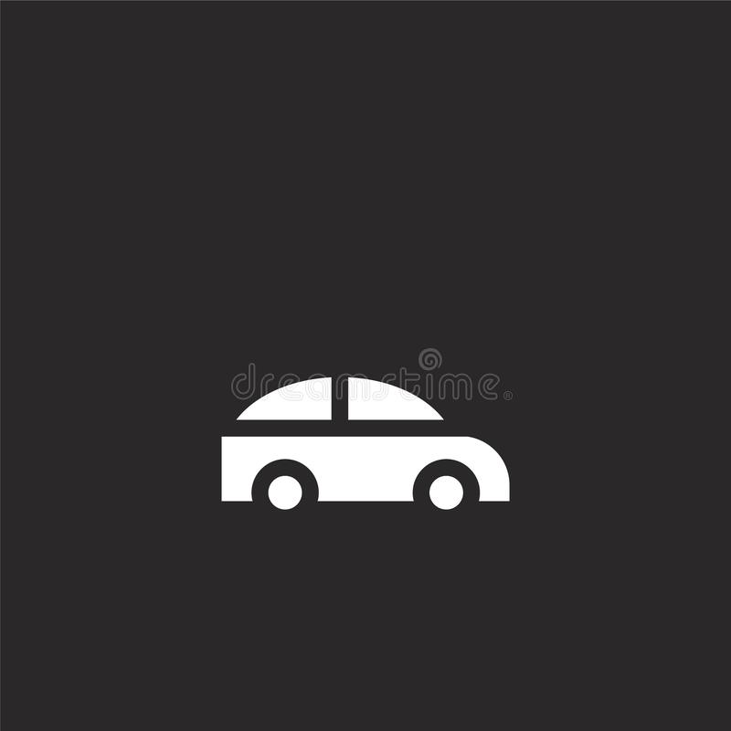 car icon. Filled car icon for website design and mobile, app development. car icon from filled transportation collection isolated royalty free illustration