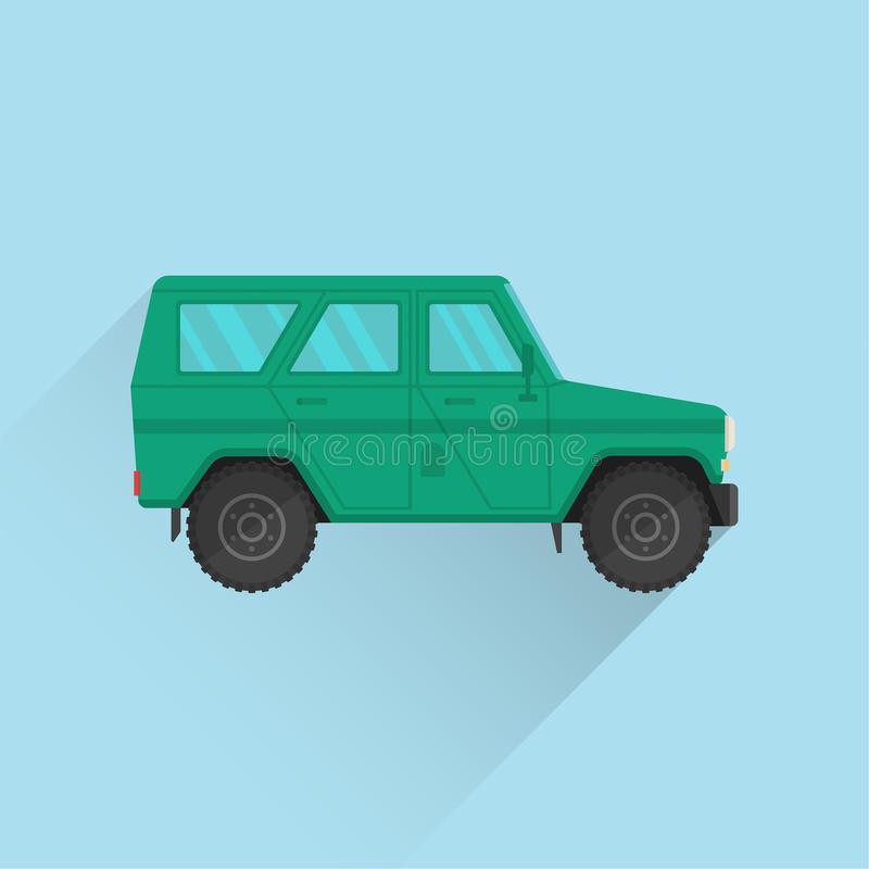Car icon jeep royalty free illustration