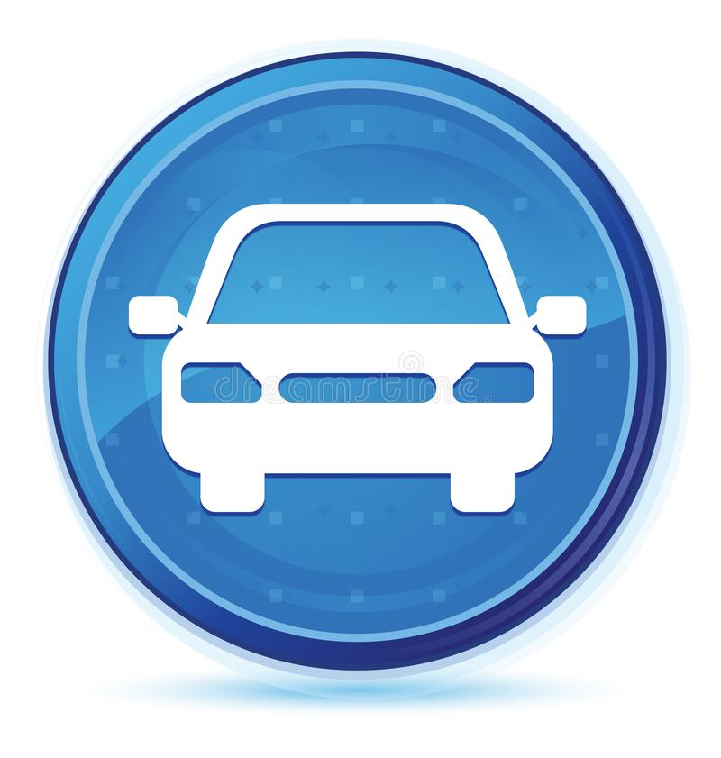 Car icon midnight blue prime round button. Car icon isolated on midnight blue prime round button abstract illustration vector illustration