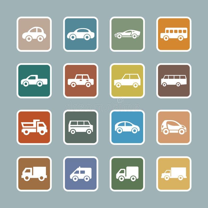 Car icon set royalty free illustration