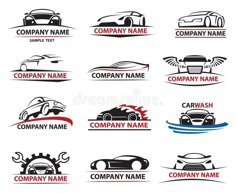 Car icon set. Set of twelve car icons