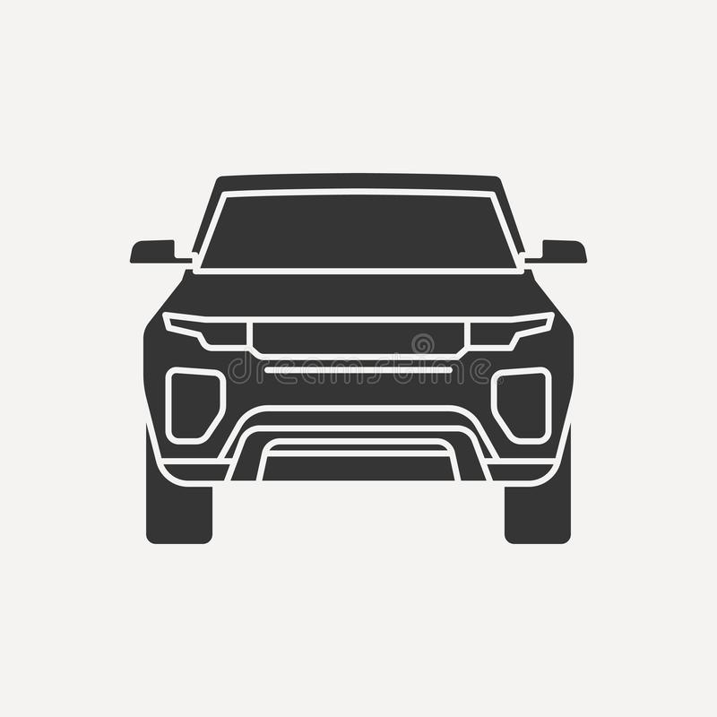 Car icon vector isolated illustration. Flat icon Car symbol logo design inspiration vector illustration