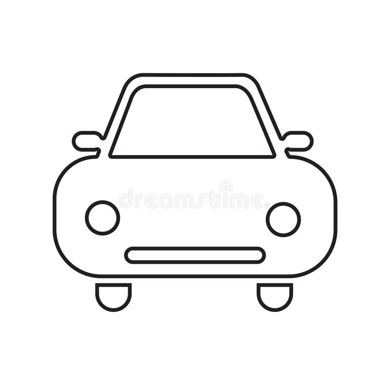 Car icon vector silhouette isolated on white background stock illustration