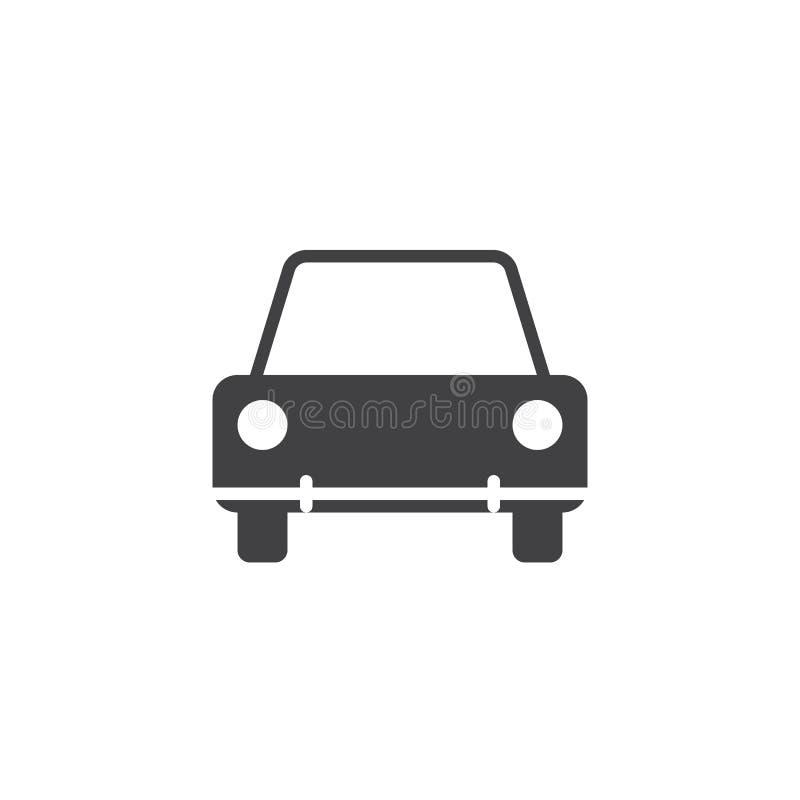 Car icon , vehicle solid logo illustration, pictogram isol. Ated on white royalty free illustration