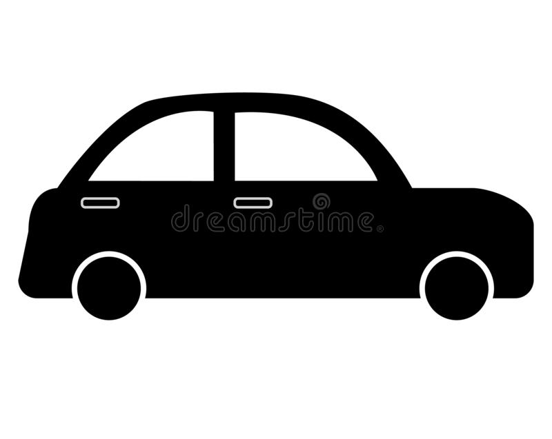 Car icon on white background. flat style. simple car icon for yo vector illustration