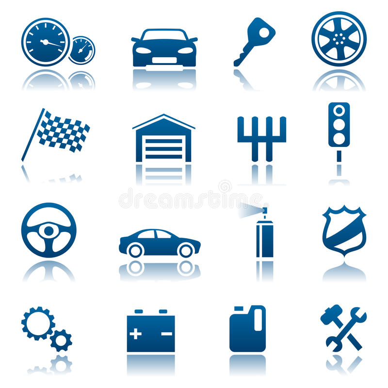Download Car icons stock vector. Image of shield, silhouette, battery - 12356768