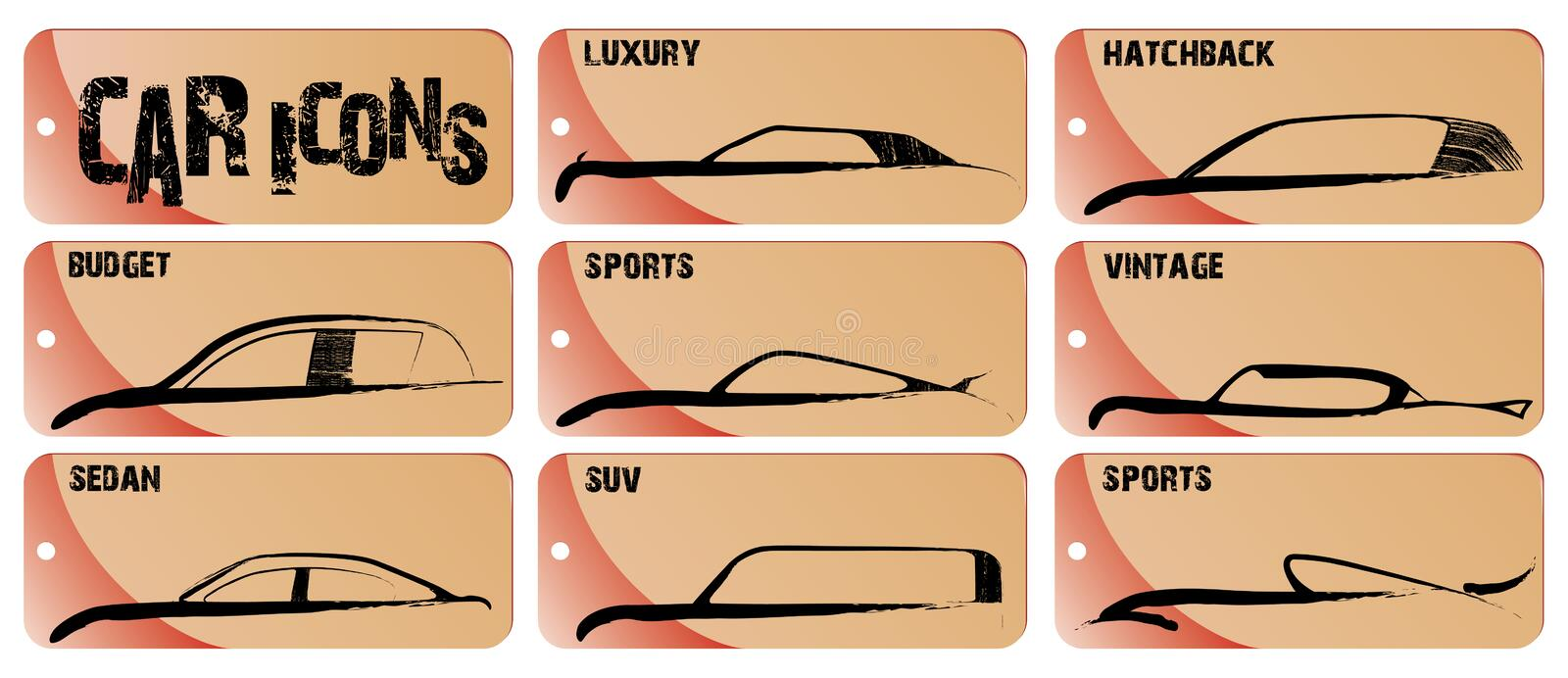 Download Car Icons stock vector. Illustration of icons, sports - 6742800