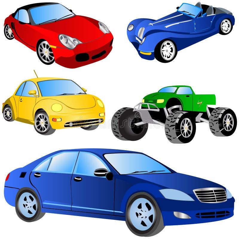 Car Icons Set stock illustration