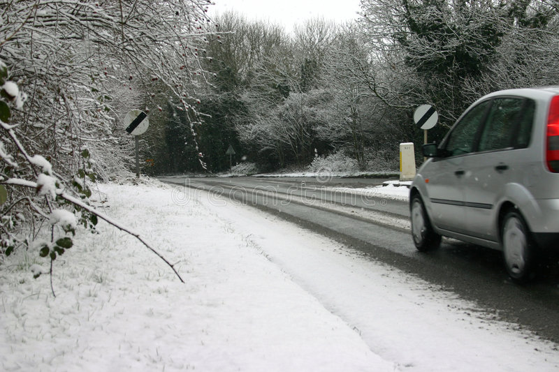 Download Car on icy road stock photo. Image of snow, covered, cold - 604474