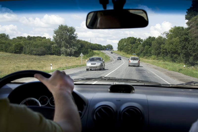 Download Car inside rural road stock photo. Image of inside, summer - 13793540