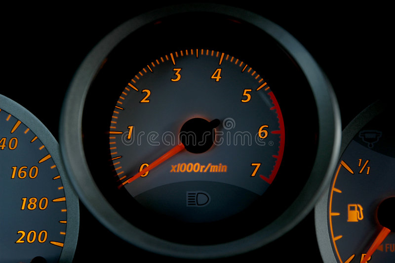 Car instruments 02 royalty free stock photo