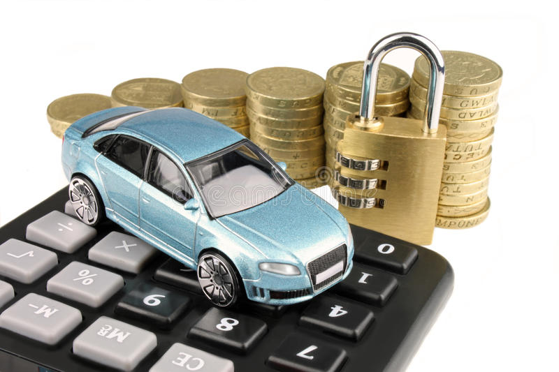 Car Insurance. A general metaphor for car insurance and finance royalty free stock photography
