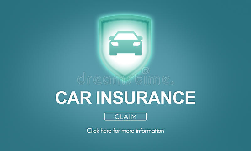 Car Insurance Accident Property Protection Concept. Car Insurance Accident Property Protection stock illustration