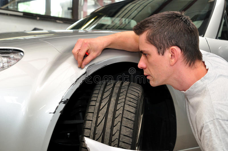 Car insurance agent stock photo