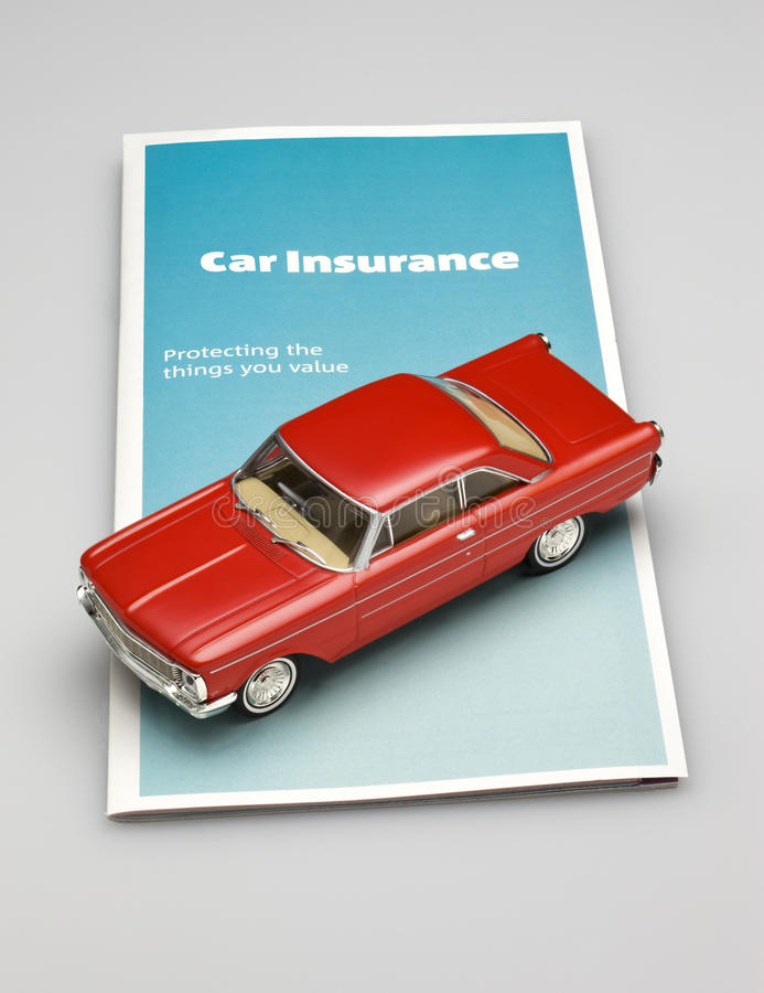 Car Auto Insurance Brochure. A brochure for car insurance with a car on the policy royalty free stock photo