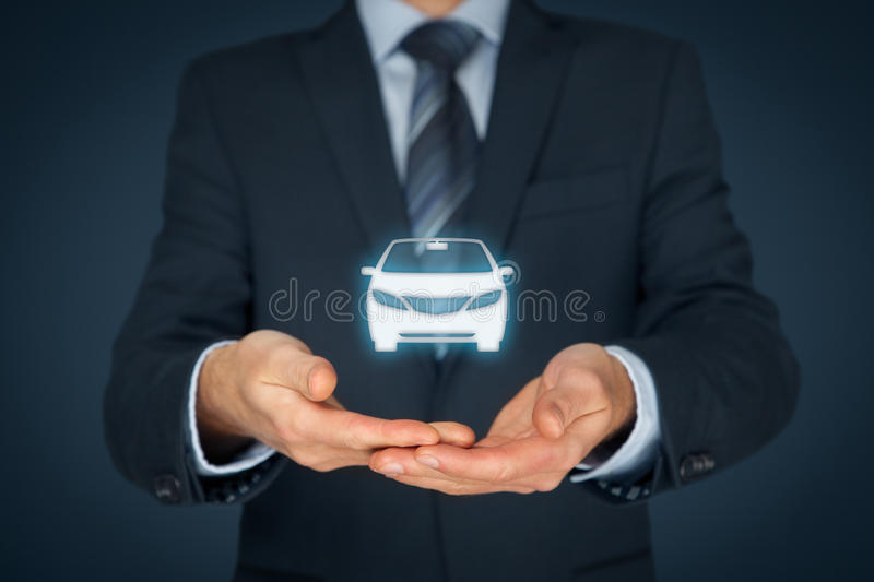 Car insurance and car services stock image