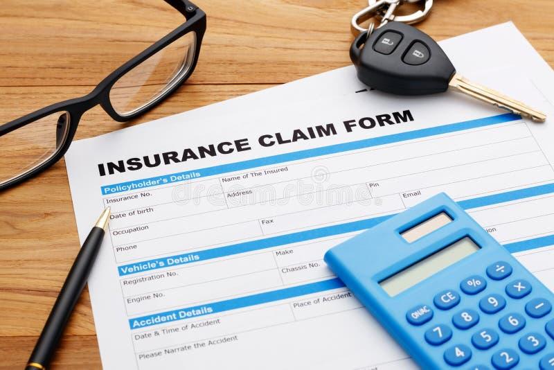 Car insurance claim form stock image. Image of auto ...