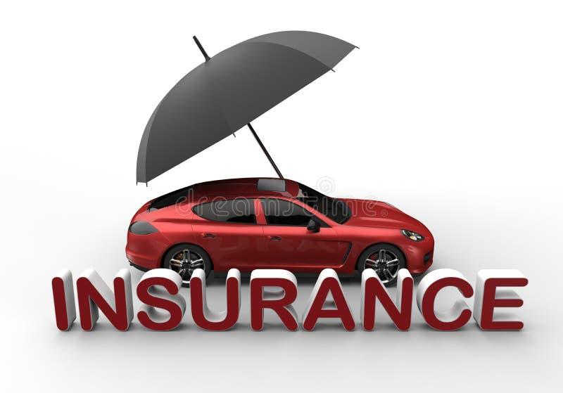 Car insurance concept royalty free illustration
