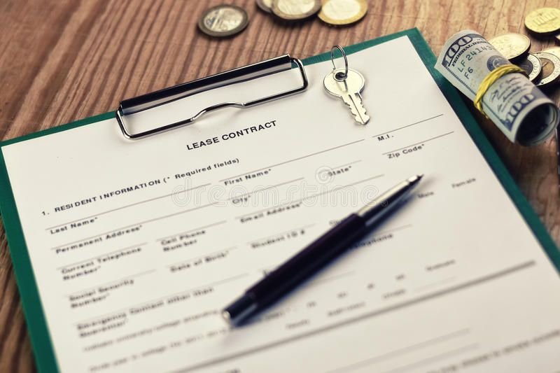 Car insurance contract and money royalty free stock image