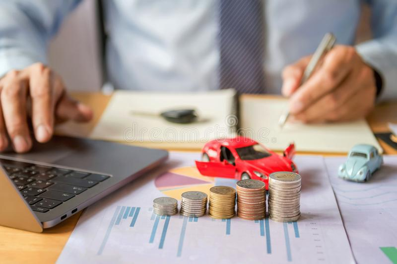 Car insurance and financing. Concept royalty free stock photos