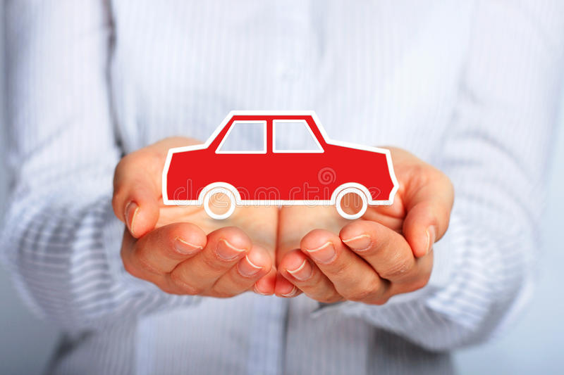Car insurance. Hands and car. Car insurance concept royalty free stock photos