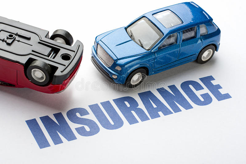Car Insurance. Image of concept Car insurance before the accident royalty free stock photos