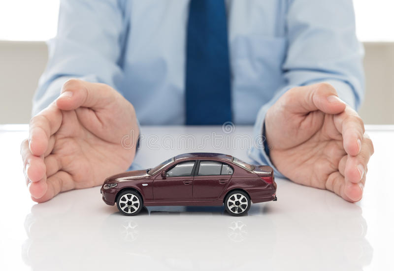 Car insurance. Protection of car (automobile). insurance concept stock image