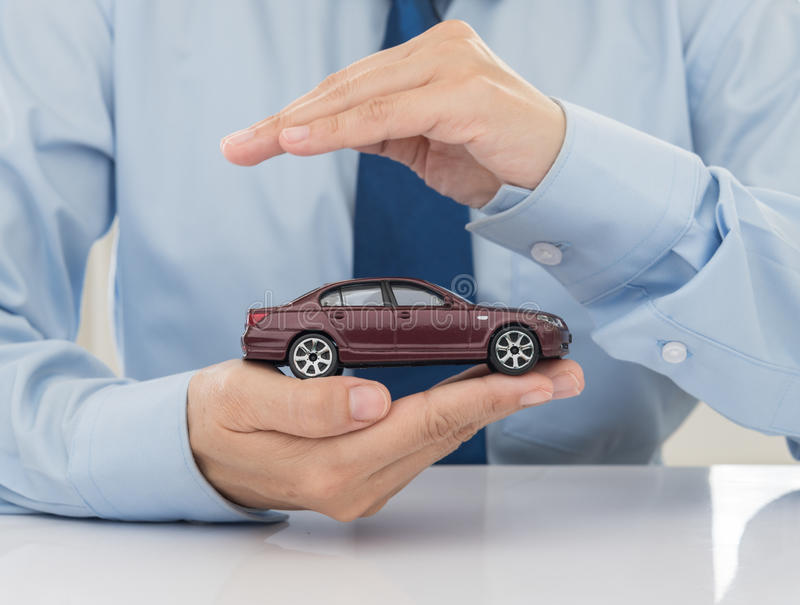 Car insurance. Protection of car (automobile). insurance concept royalty free stock photography