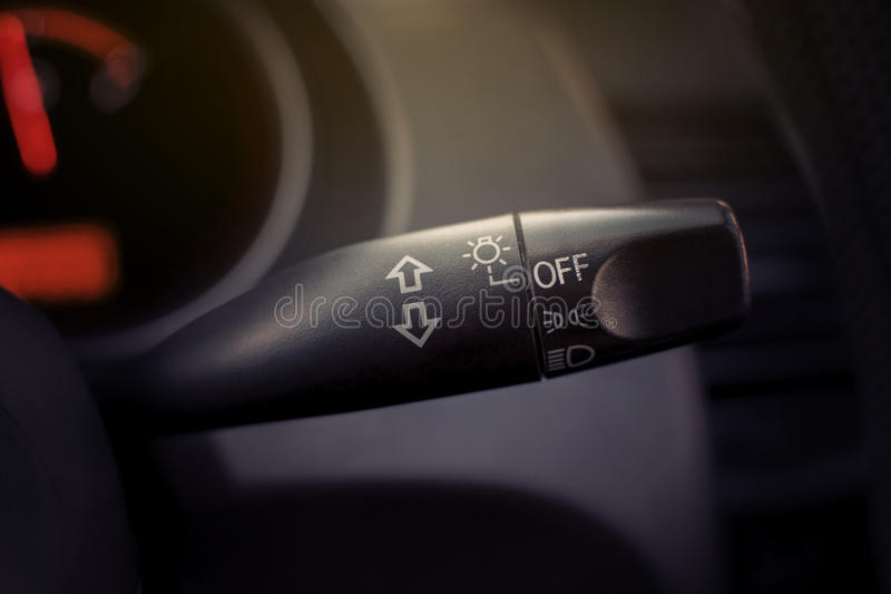 Car integrated switch toggle. royalty free stock images