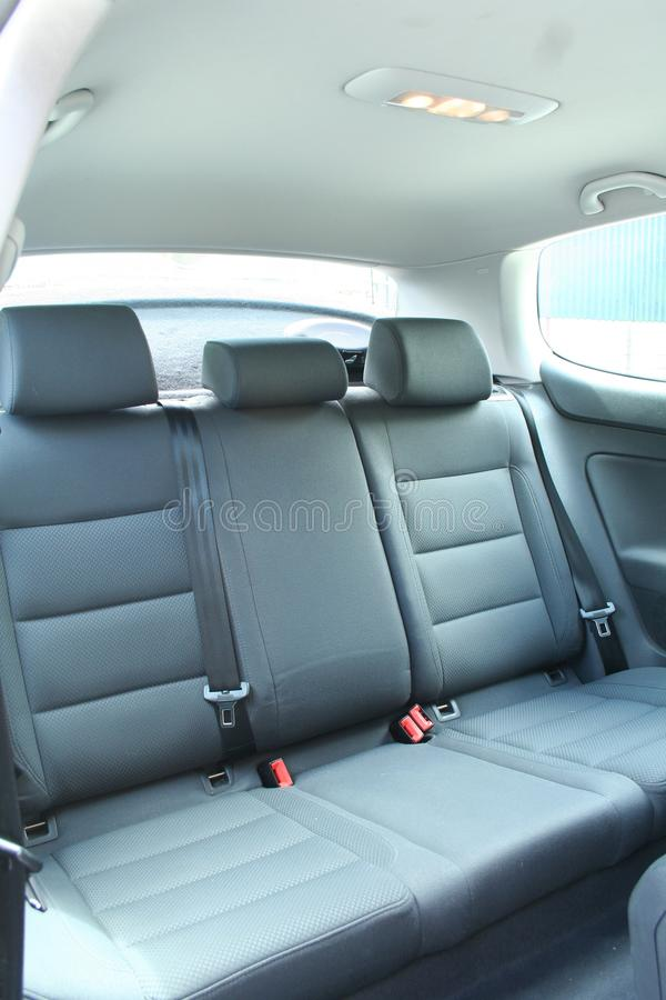 Car Interior. Rear seats of a car interior royalty free stock photography