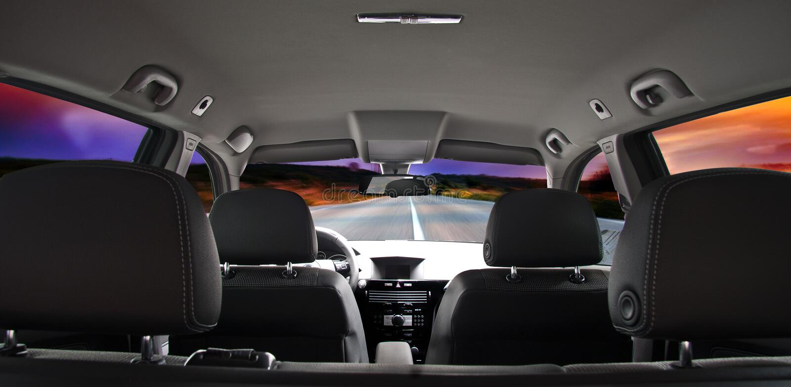 Car interior. A great view of a car interior royalty free stock images