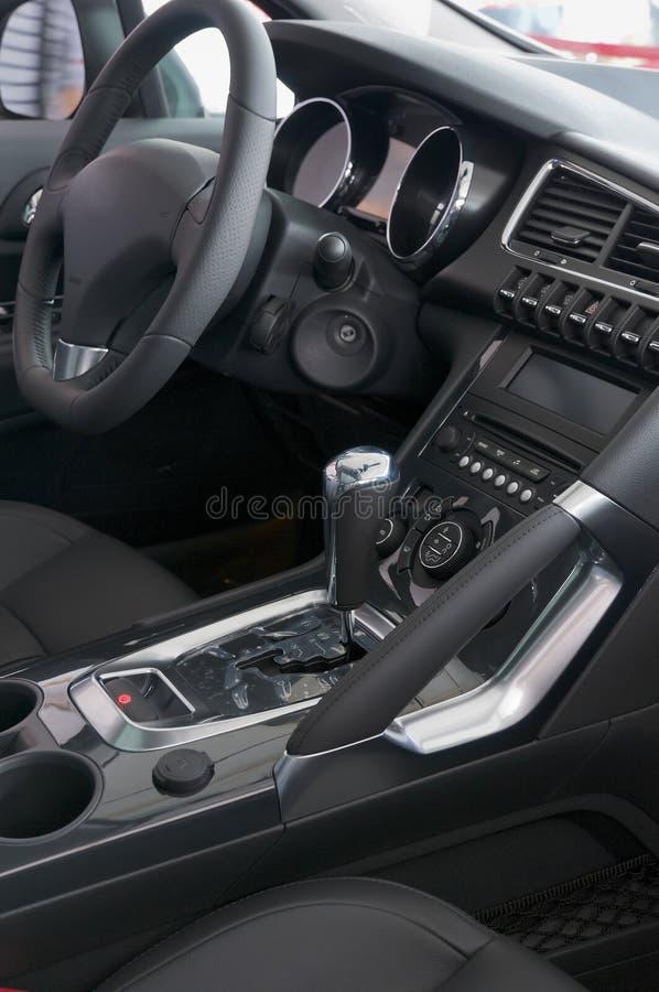 Car interior. Black Car interior of New Car stock image