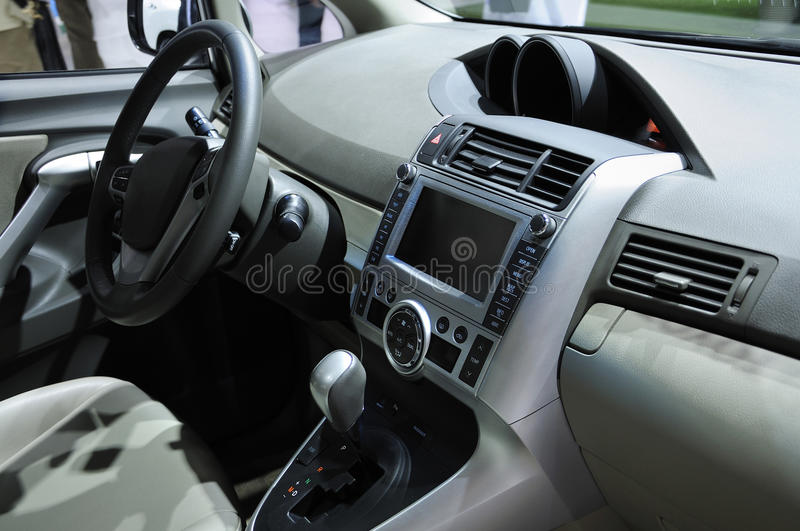 Car Interior. View of a new car interior royalty free stock images