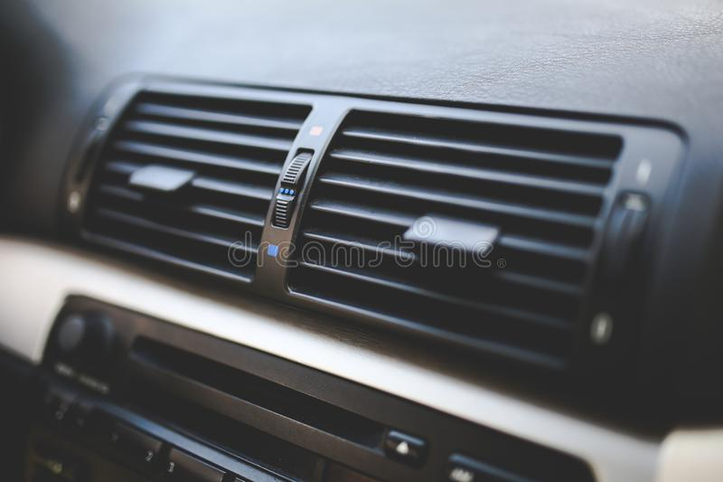Car interior / Air conditioner royalty free stock photo