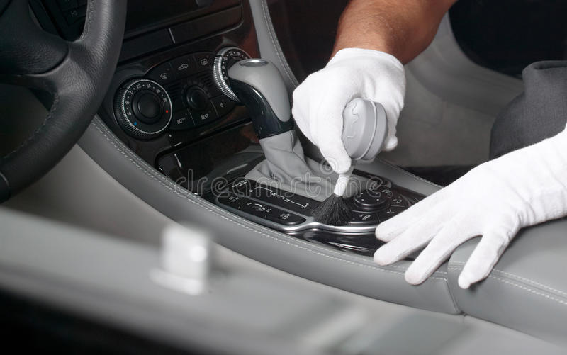 Car interior cleaning 1 stock images