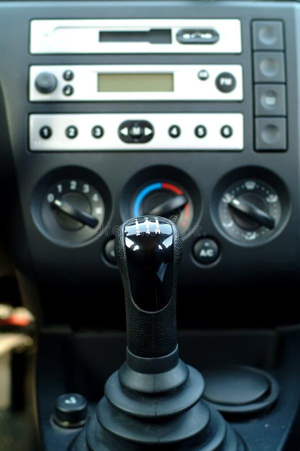 Car interior , gear shift. Front view royalty free stock photos