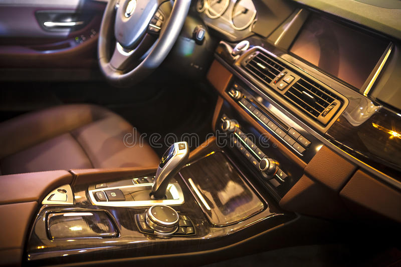 Car interior. The luxury car cab interior ,BMW stock images