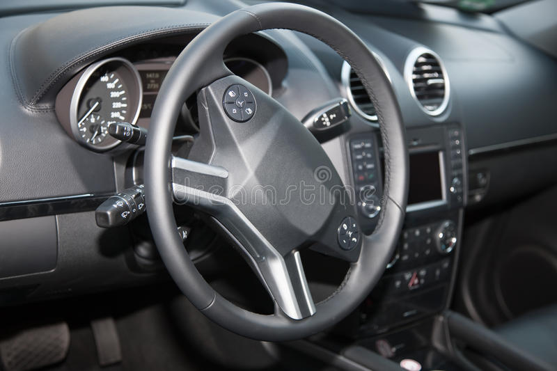 Car Interior. Luxury car interior, new car royalty free stock photo