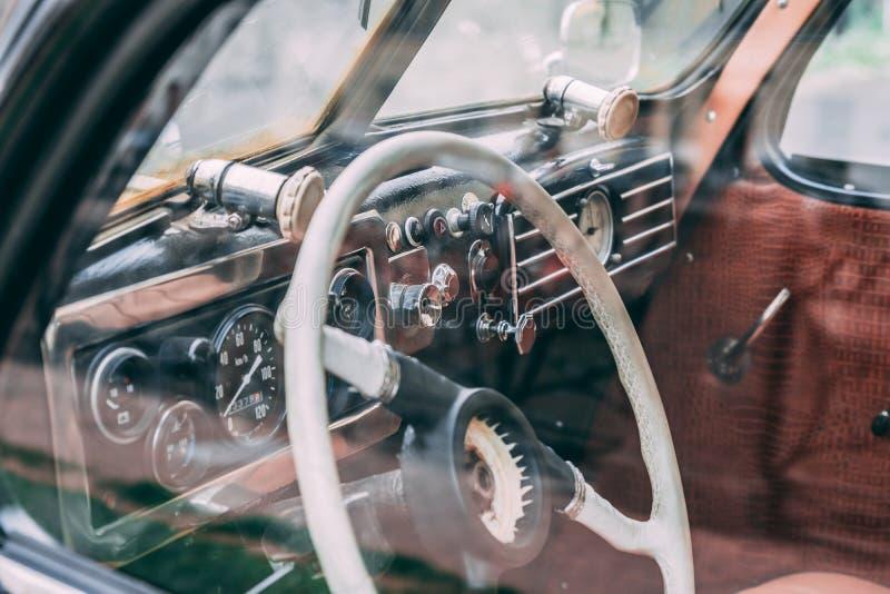 car interior retro στοκ φωτογραφία με δικαίωμα ελεύθερης χρήσης