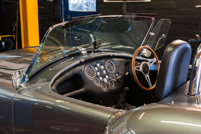 Car interior. Car in a service garage stock photography