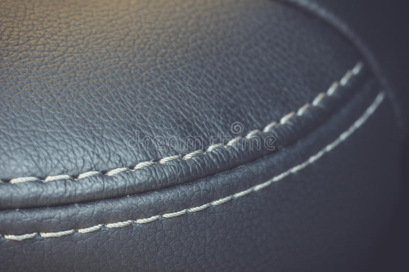 Car interior texture of seat, low depth of focus royalty free stock images