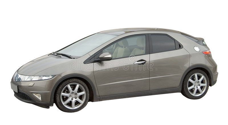 Car isolated stock photo