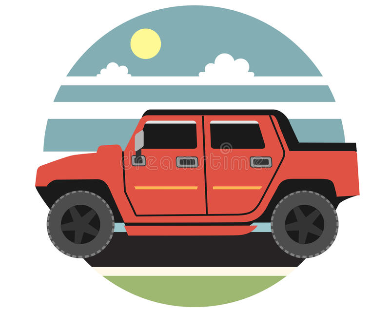 Car jeep vector illustration